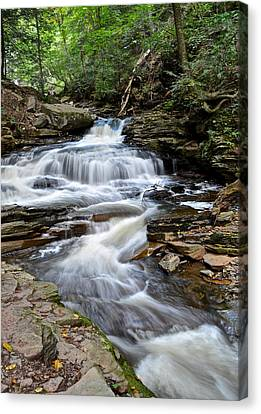 Seneca Falls Canvas Print by Frozen in Time Fine Art Photography
