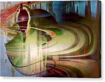 Sensing The Spheres Canvas Print by Linda Sannuti