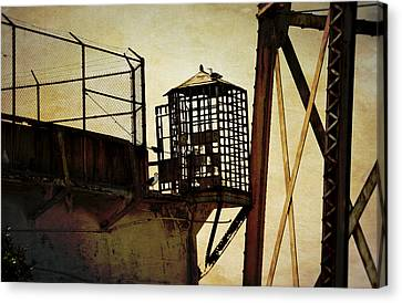 Sentry Box In Alcatraz Canvas Print by RicardMN Photography