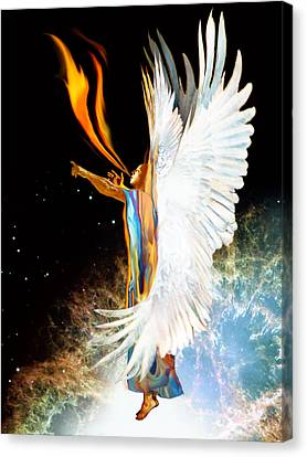 Seraph Calls Out Canvas Print by Ron Cantrell