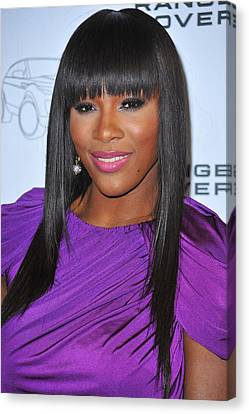 Serena Williams At Arrivals For Range Canvas Print by Everett
