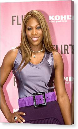 Serena Williams At The Press Conference Canvas Print by Everett