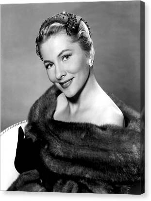 Serenade, Joan Fontaine, 1956 Canvas Print by Everett