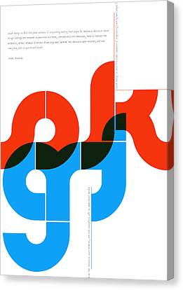 Sergey Rachmaninov Quote Poster Canvas Print by Naxart Studio