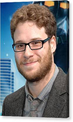 Seth Rogen At Arrivals For Monsters Vs Canvas Print by Everett