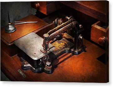 Sewing Machine - Sewing For Small Hands  Canvas Print by Mike Savad