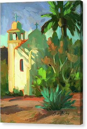 Shadows At St. Richard's Canvas Print by Diane McClary