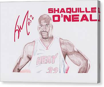 Shaquille O'neal Canvas Print by Toni Jaso