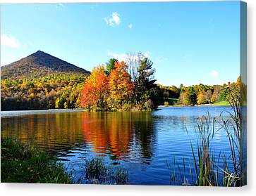 Sharp Top Mountain Canvas Print by Todd Hostetter