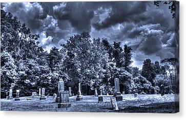 Shawnee Cemetery Canvas Print by Jackie Novak