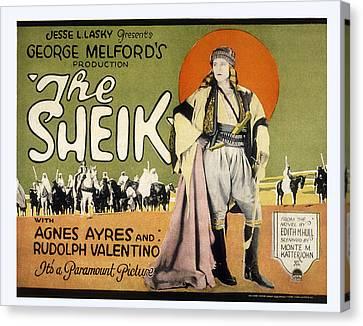 Sheik, Rudolph Valentino, 1921 Canvas Print by Everett