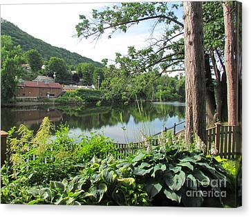 Shelburne Falls Canvas Print by Randi Shenkman