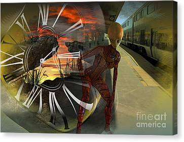 Shifting Dimensions Canvas Print by Shadowlea Is