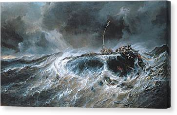 Shipwreck Canvas Print by Louis Isabey