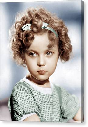 Shirley Temple, Ca. 1934 Canvas Print by Everett