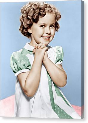 Shirley Temple, Ca. 1936 Canvas Print by Everett