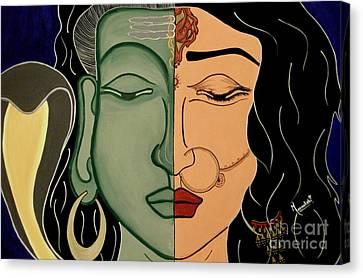 Shiv-shakti Canvas Print by Meenakshi Malhotra