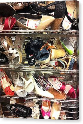Shoe Sale Canvas Print by Donna Blackhall