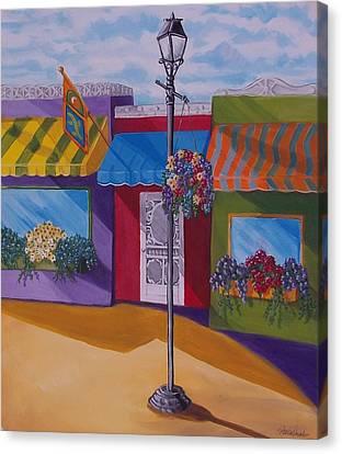 Shopping Canvas Print by Renee Schneider