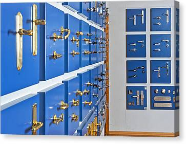 Showroom With Various Brass Canvas Print by Corepics