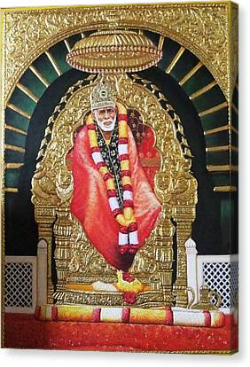 Shree Shirdi Sai Baba Canvas Print by Ashok  Sharma
