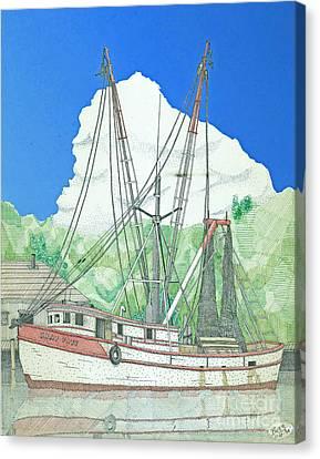 Shrimp Boat Sally Faye Canvas Print by Calvert Koerber