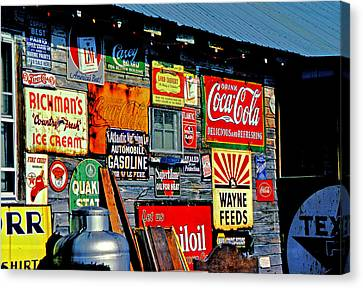 Signs Canvas Print by Mike Flynn