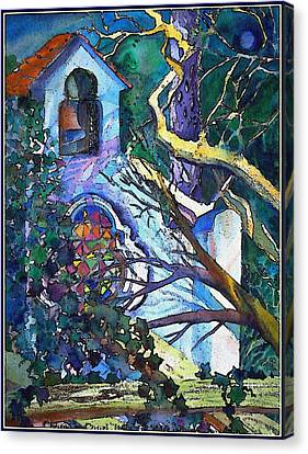 Silence At St. Michel Chapel In Capri Italy Canvas Print by Mindy Newman