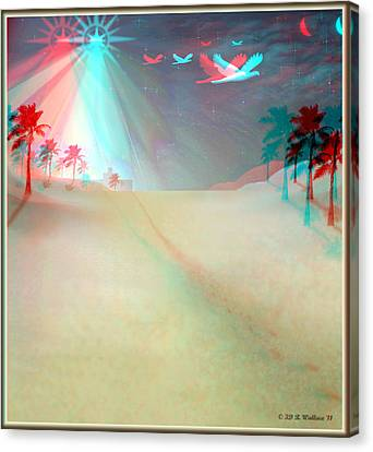 Silent Night - Red And Cyan 3d Glasses Required Canvas Print by Brian Wallace