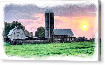 Silo Sunset IIi Canvas Print by Dan Carmichael