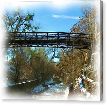 Silver City Big Ditch In Winter Canvas Print by FeVa  Fotos