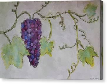 Simply Grape Canvas Print by Heidi Smith