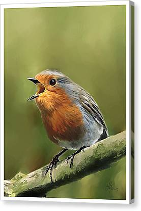 Sing Red Robin Sing Canvas Print by Michael Greenaway
