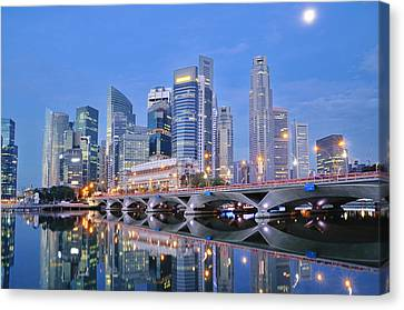 Singapore Central Business District Skyline Canvas Print by Photo by Salvador Manaois III