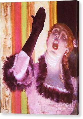 Singer With The Glove Canvas Print by Pg Reproductions