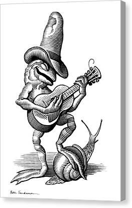 Singing Frog, Conceptual Artwork Canvas Print by Bill Sanderson