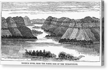 Sioux: Rosebud River Canvas Print by Granger