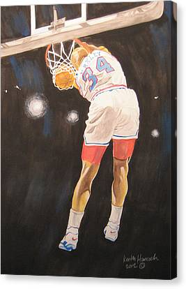 Sir Charles Canvas Print by Keith Hancock