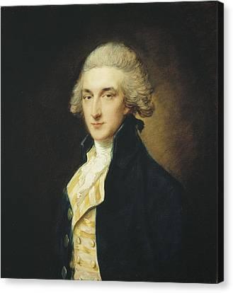 Sir John Edward Swinburne Canvas Print by Thomas Gainsborough