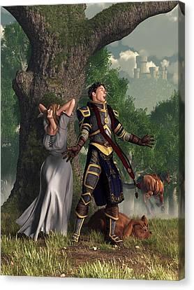 Sir Justinus The Singing Knight Canvas Print by Daniel Eskridge