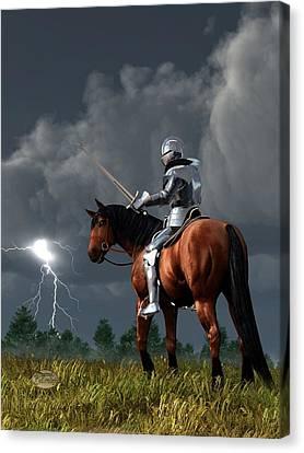 Sir Lightning Rod Canvas Print by Daniel Eskridge