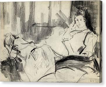 Sisters Canvas Print by Ethel Vrana