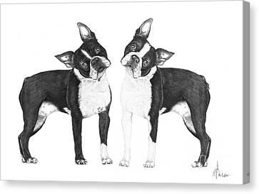Sisters From Boston Canvas Print by Murphy Elliott