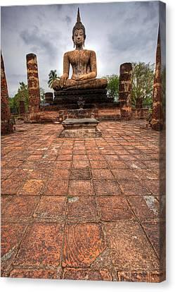 Sitting Buddha Canvas Print by Adrian Evans