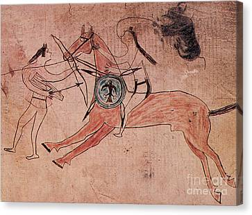 Sitting Bull Wins His First Battle Canvas Print by Photo Researchers