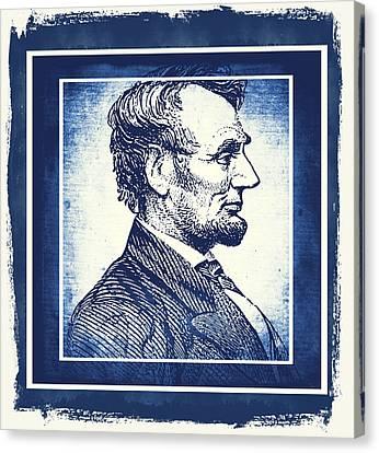 Sixteenth President Blue Canvas Print by Angelina Vick