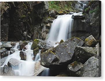 Skagway Waterfall 8619 Canvas Print by Michael Peychich