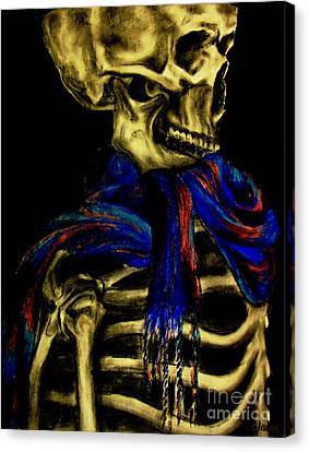 Skeleton Fashion Victim Canvas Print by Tylir Wisdom