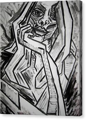 Sketch - Intrigued Canvas Print by Kamil Swiatek