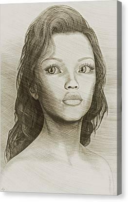 Sketched Portrait Canvas Print by Maynard Ellis
